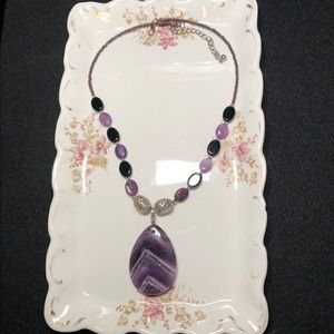 Genuine Amethyst pendent necklace